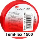 3M Isolierband 19mm x 25m TemFlex 1500 rot